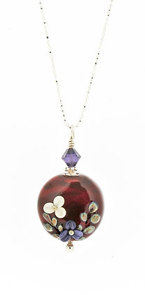 Victorian Secret Necklace-Ruby Red