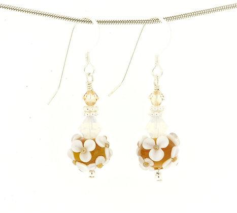 Floral Earrings-Butter