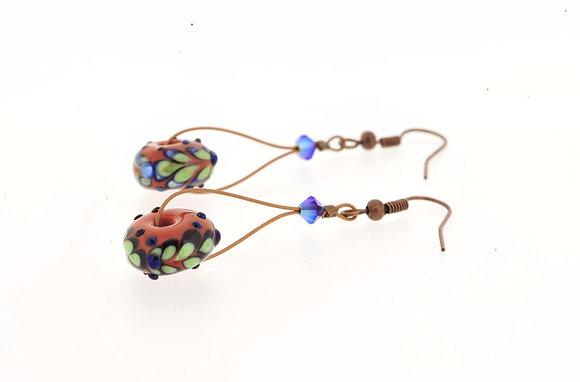 Victorian Secret Earrings-Orange