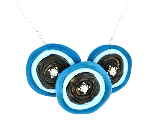 Disc Necklace-Turquoise