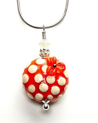 Polka Dot Necklace-Orange