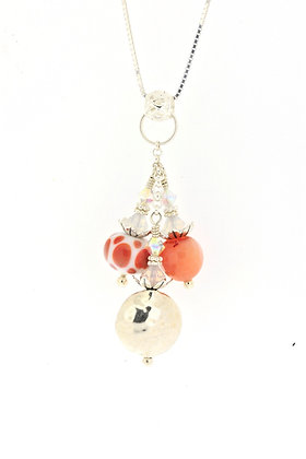 Cluster Necklace-Peach