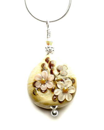 Floral Necklace-Cream