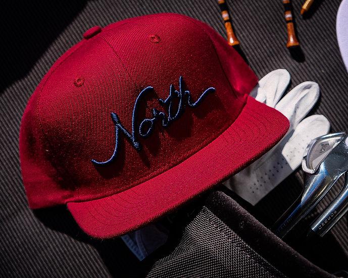North Script Maroon Hat