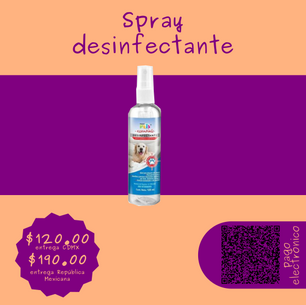 Spray desinfectante para patitas