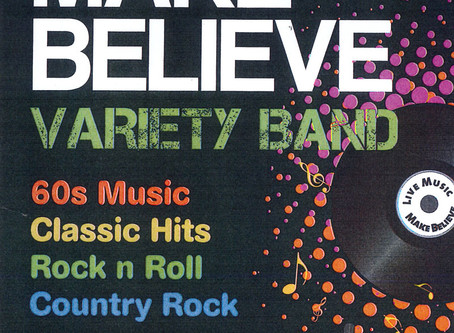 Fri 16th October, 7pm – Make Believe Variety Band Live!