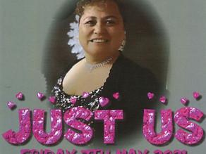 Just Us Live! Fri 7th May, 7pm