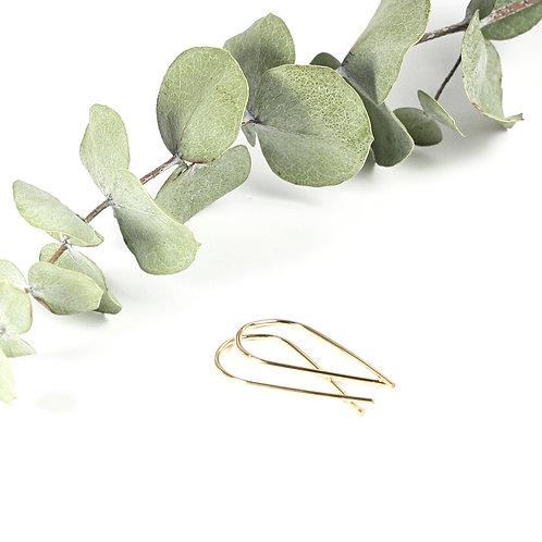 Ribbon Earrings Gold