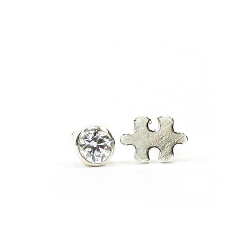 Birthstone Puzzle Earrings