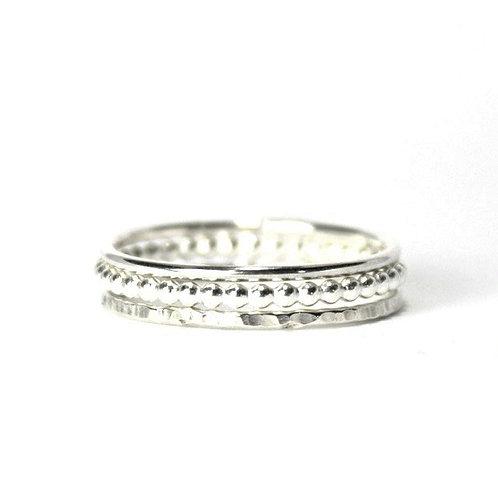 Stacking Ring Set - Silver