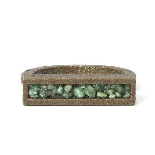 Emerald Bar Ring