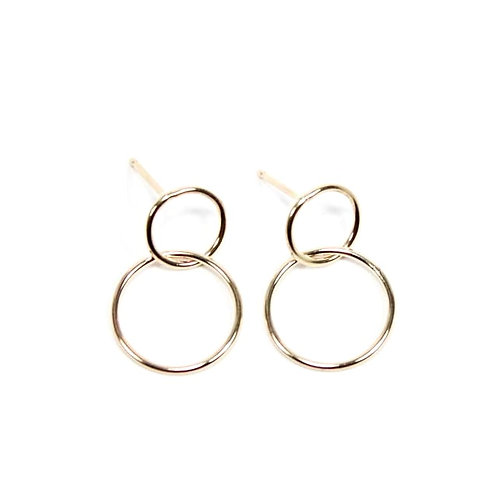 Gold Double Circle Dangle