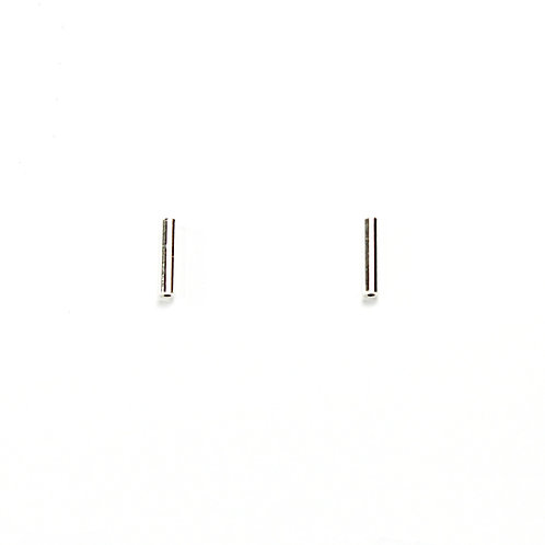 Sterling Silver Tube Studs - Large
