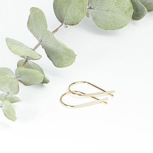 Mini Ribbon Earrings Gold