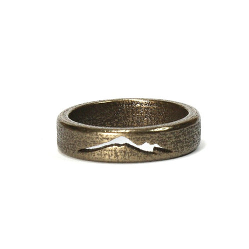 Polished Bronze and Steel Mountain Band