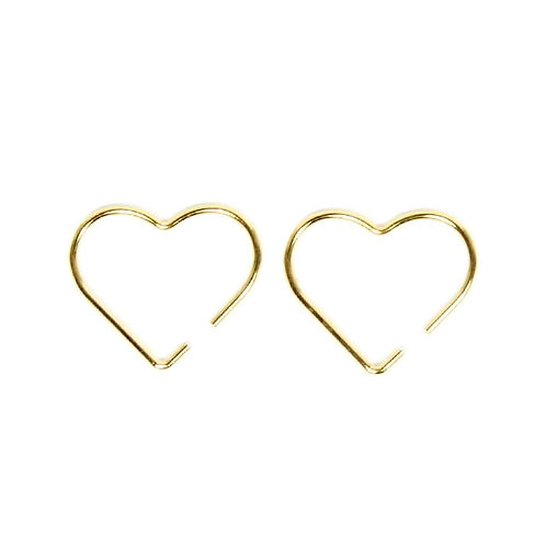 Gold Heart Threaders