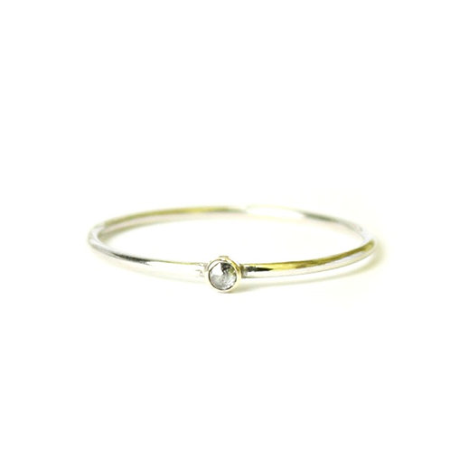 14kt Diamond Stacking Ring - Size 8