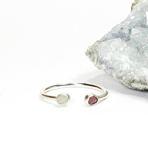 Open Double Stone Ring