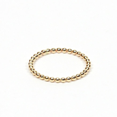 Gold-Filled Bead Stacking Ring