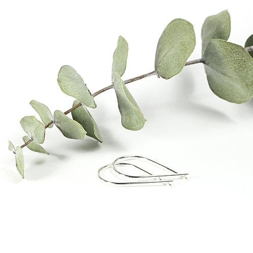 Ribbon Earrings Silver