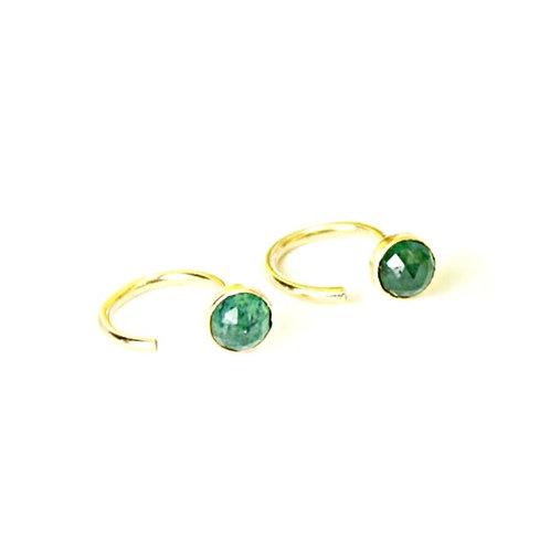 Gold Aventurine Threader Earrings