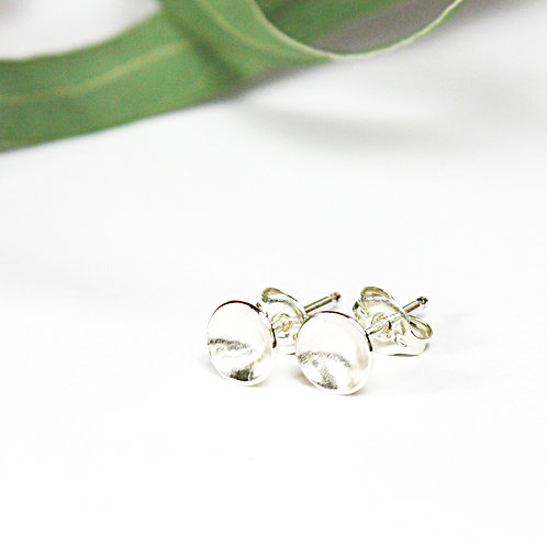 Sterling Silver Concave Earrings