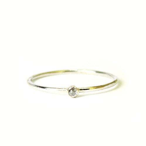 14kt Diamond Stacking Ring - Size 7