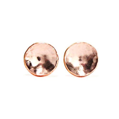 Rose Gold Hammered Earrings