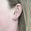 Thumbnail: Mini Ribbon Earrings Silver