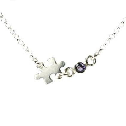 Puzzle Birthstone Necklace