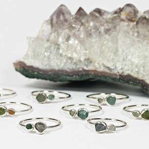 Raw Stone Rings