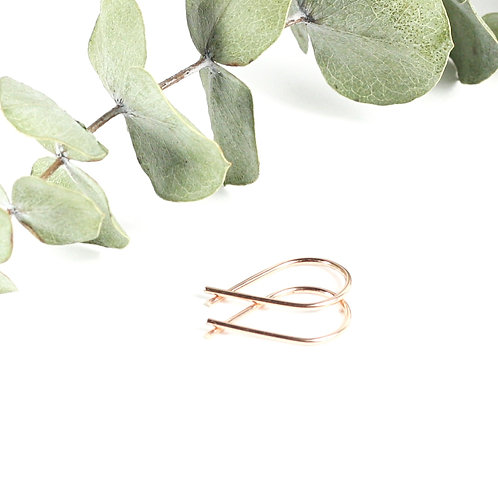 Mini Ribbon Earrings Rose Gold