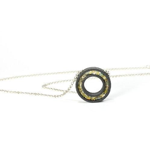 Opal Black Steel Pendant
