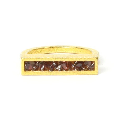 Garnet Bar Ring
