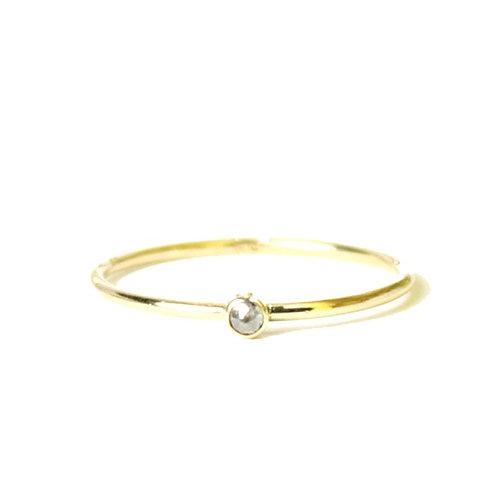 14kt Diamond Stacking Ring - Size 6
