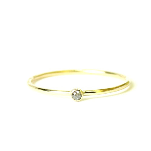 14kt Diamond Stacking Ring - Size 8