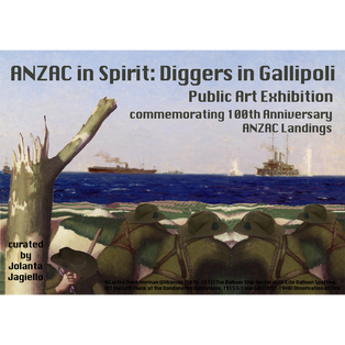 ANZAC IN SPIRIT - DIGGERS IN  GALLIPOLI EXHIBITION Flyer - front