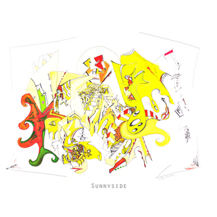 SUNNYSIDE Medium: biro & watercolour Size: 76.2x55.9cm  (30x22 inches) Saunders Waterford archival paper.