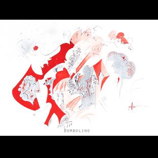 BOMBOLINO Medium: biro & watercolour Size: 76.2x55.9cm   (30x22 inches) Saunders Waterford archival paper