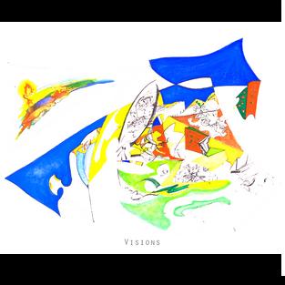 VISIONS Medium: biro & watercolour