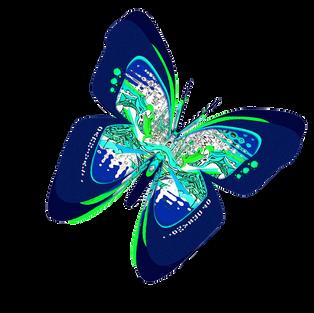 CARNIVAL OF DREAMS - Montage : dark blue butterfly logo