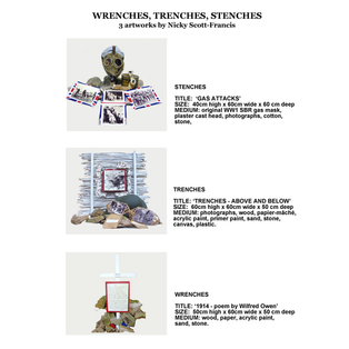 WRENCHES, TRENCHS, STENCHES Artworks descriptions