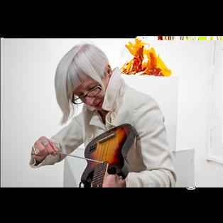 WHITEOUT EXHIBITION Bettina Schroeder - improvisation concert
