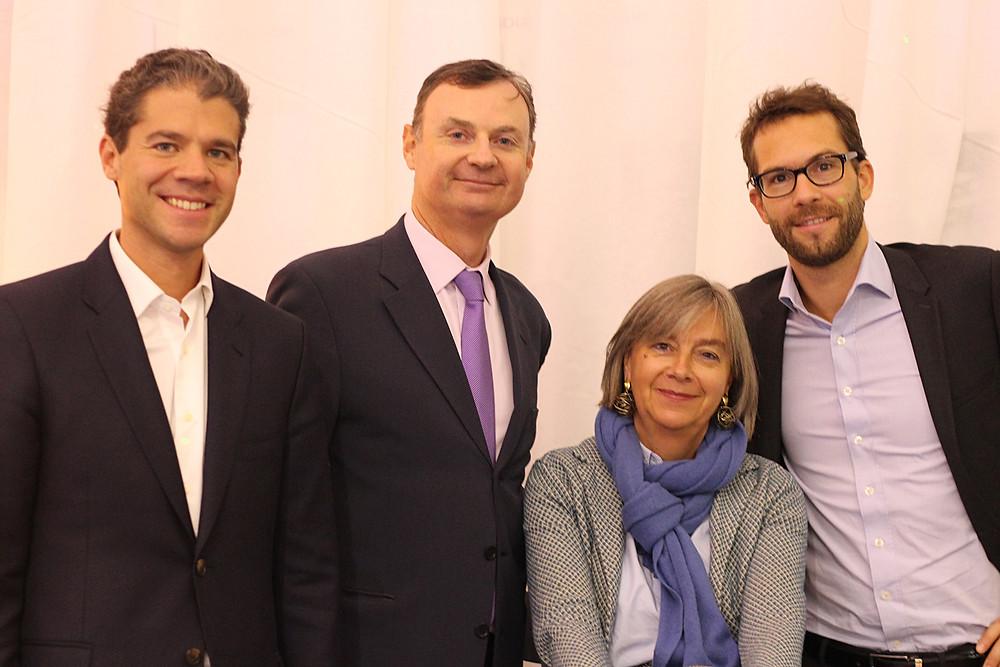 Alexandre Morel, Thibaut Massart, Florence Jouffroy et Philippe Gosset