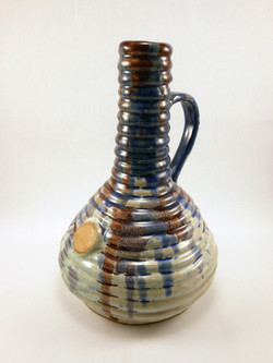 Tall Coil Pot with Handle