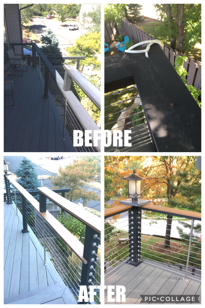 Deck Railing Replacement and Light Fixture Installation