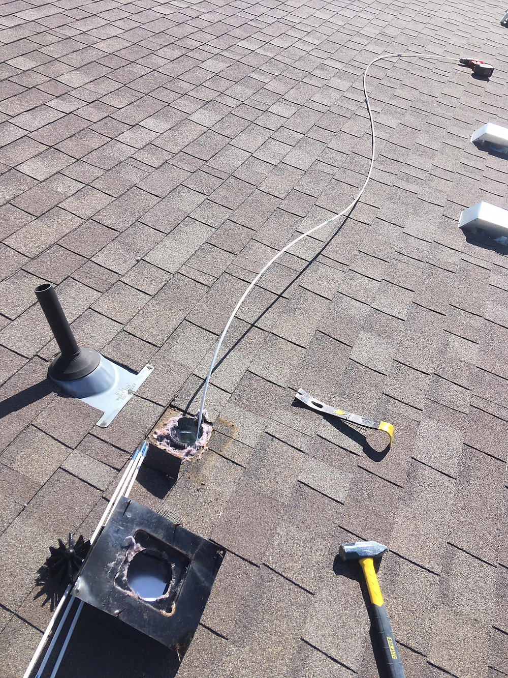 Dryer Vent Cleaning - Single Story Home