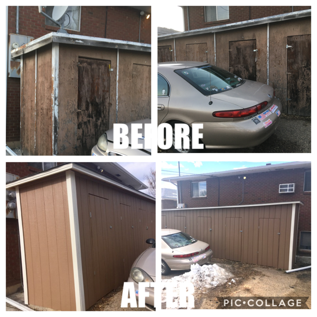 Shed Siding Replacement & Painting - Loveland, Colorado