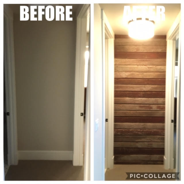 Wood Accent Wall Installation - Loveland, Colorado