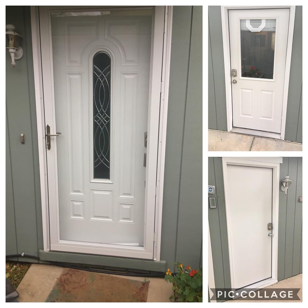 Door Painting & Storm Door Installation